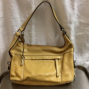 FOSSIL YELLOW PURSE LEATHER